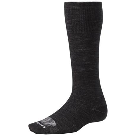 SmartWool PhD Ultralight Graduated Compression Socks - Merino Wool (For Men and Women) in Black/Silver