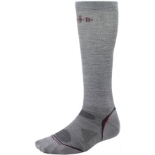 SmartWool PhD Ultralight Graduated Compression Socks - Merino Wool (For Men and Women) in Light Grey - 2nds