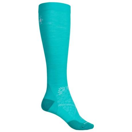 SmartWool PhD Ultralight Graduated Compression Socks - Merino Wool, Over the Calf (For Women) in Light Capri