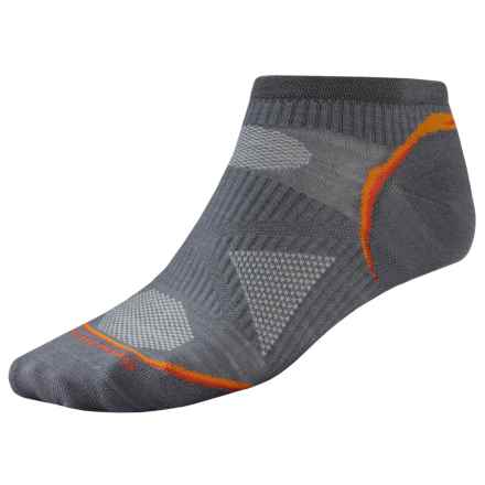 SmartWool PhD Ultralight Micro Cycling Socks - Merino Wool (For Men and Women) in Graphite - 2nds