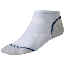 SmartWool PhD Ultralight Micro Cycling Socks - Merino Wool (For Men and Women) in Silver - 2nds
