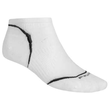 SmartWool PhD Ultralight Micro Cycling Socks - Merino Wool (For Men and Women) in White - 2nds