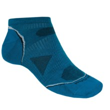 SmartWool PhD Ultralight Micro Running Socks - Ankle (For Men and Women) in Arctic Blue - 2nds