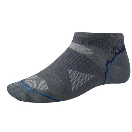 SmartWool PhD Ultralight Micro Running Socks - Ankle (For Men and Women) in Graphite