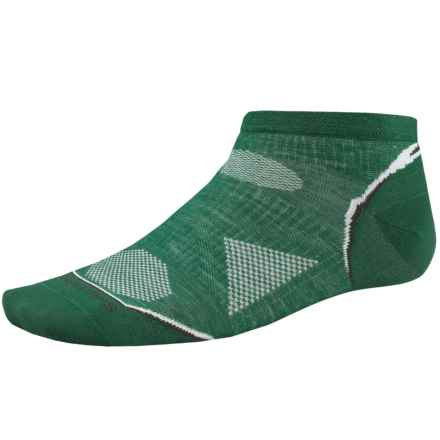 SmartWool PhD Ultralight Micro Running Socks - Ankle (For Men and Women) in Grasshopper - 2nds