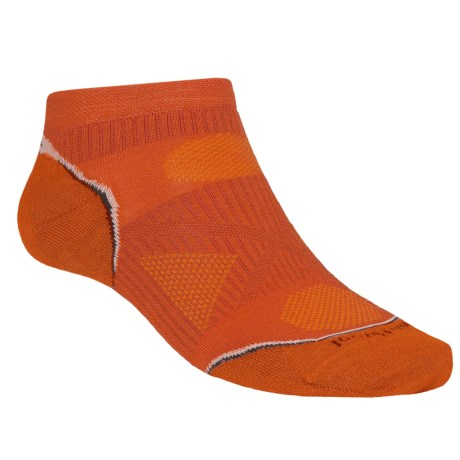 SmartWool PhD Ultralight Micro Running Socks - Ankle (For Men and Women) in Orange