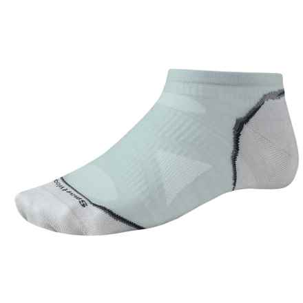 SmartWool PhD Ultralight Micro Running Socks - Ankle (For Men and Women) in Silver Grey - 2nds