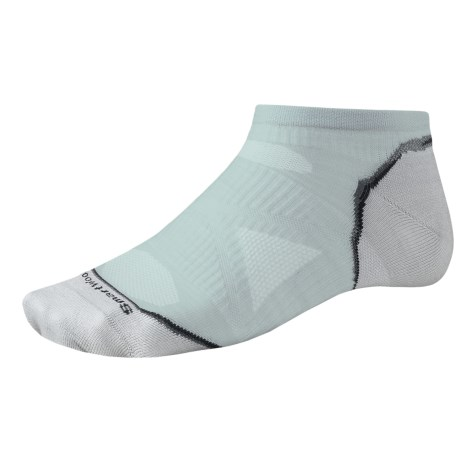 SmartWool PhD Ultralight Micro Running Socks - Ankle (For Men and Women) in Silver Grey