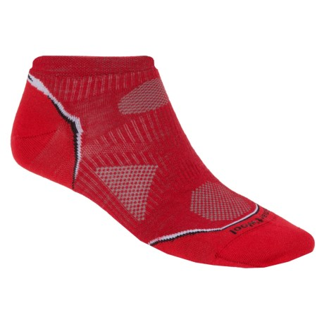 SmartWool PhD Ultralight Micro Running Socks (For Men and Women) in Bright Red