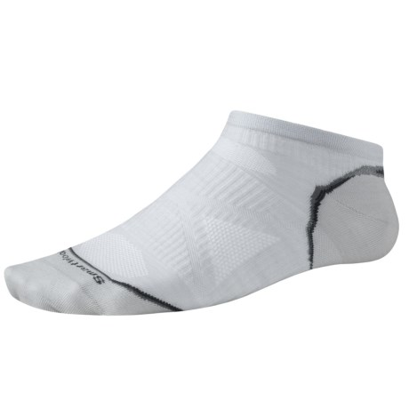 SmartWool PhD Ultralight Micro Running Socks (For Men and Women) in Silver