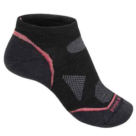 SmartWool PhD Ultralight Micro Running Socks - Merino Wool, Below the Ankle (For Women) in Black - 2nds