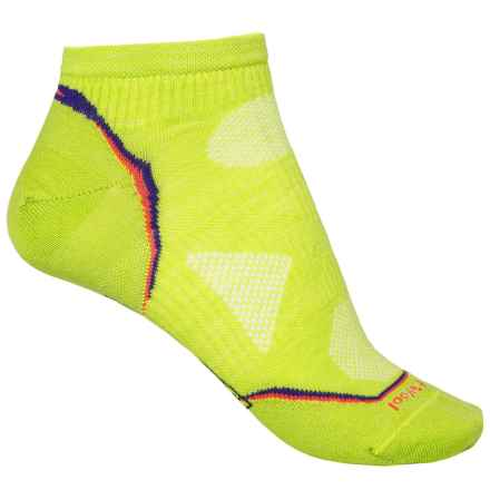 SmartWool PhD Ultralight Micro Running Socks - Merino Wool, Below the Ankle (For Women) in Light Smartwool Green - 2nds