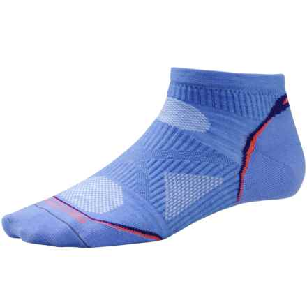 SmartWool PhD Ultralight Micro Running Socks - Merino Wool, Below the Ankle (For Women) in Polar Purple - Closeouts