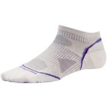 SmartWool PhD Ultralight Micro Running Socks - Merino Wool, Below the Ankle (For Women) in Silver - Closeouts
