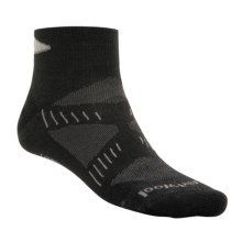 SmartWool PhD Ultralight Mini Running Socks - Merino Wool (For Men and Women) in Black/Silver - 2nds