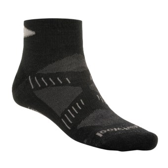 SmartWool PhD Ultralight Mini Running Socks - Merino Wool (For Men and Women) in Black/Silver