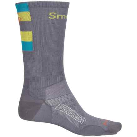 SmartWool PhD Ultralight Run Socks - Merino Wool, Crew (For Men and Women) in Graphite - 2nds