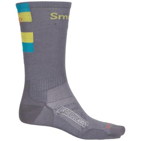 SmartWool PhD Ultralight Run Socks - Merino Wool, Crew (For Men and Women) in Graphite