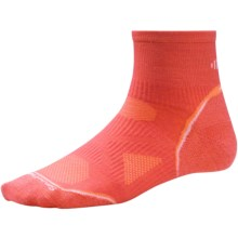 SmartWool PhD Ultralight Run Socks - Merino Wool (For Women) in Poppy/White - 2nds