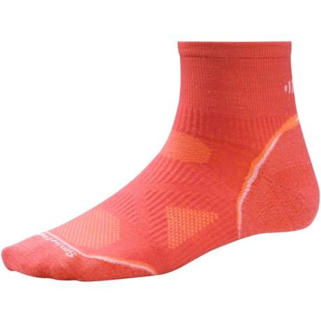 SmartWool PhD Ultralight Run Socks - Merino Wool (For Women) in Poppy/White