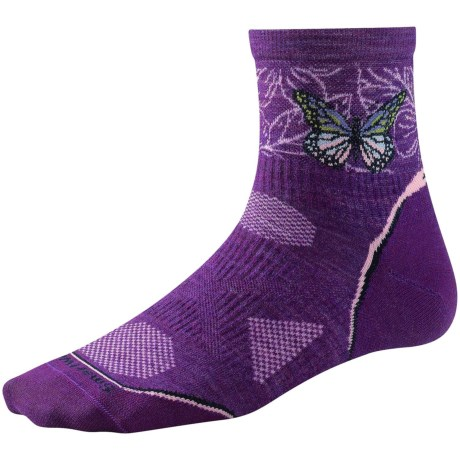 SmartWool PhD Ultralight Run Socks - Merino Wool (For Women) in Silver