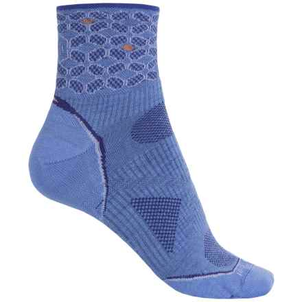 SmartWool PhD Ultralight Run Socks - Merino Wool, Quarter Crew (For Women) in Polar Purple - 2nds