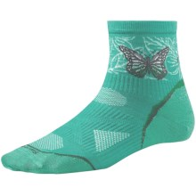 SmartWool PhD Ultralight Run Socks - Merino Wool, Quarter Crew (For Women) in Spearmint - 2nds