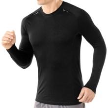 SmartWool PhD Ultralight Run T-Shirt - Merino Wool, Long Sleeve (For Men) in Black - Closeouts