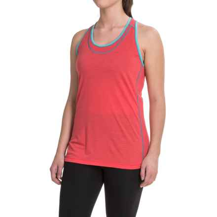 SmartWool PhD Ultralight Running Tank Top - Merino Wool (For Women) in Hibiscus - Closeouts