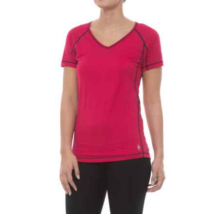 SmartWool PhD Ultralight Shirt - Merino Wool, Short Sleeve (For Women) in Potion Pink - Closeouts