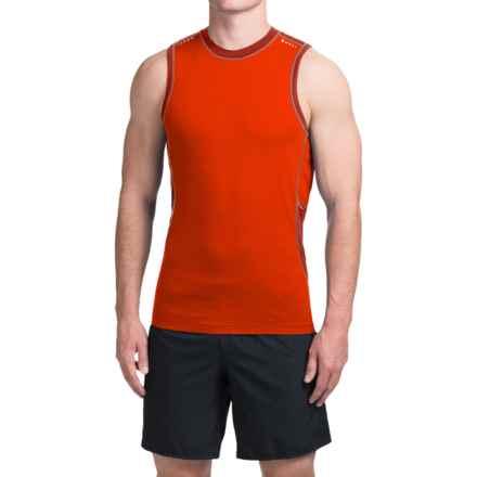 SmartWool PhD Ultralight Shirt - Sleeveless (For Men) in Bright Orange - Closeouts