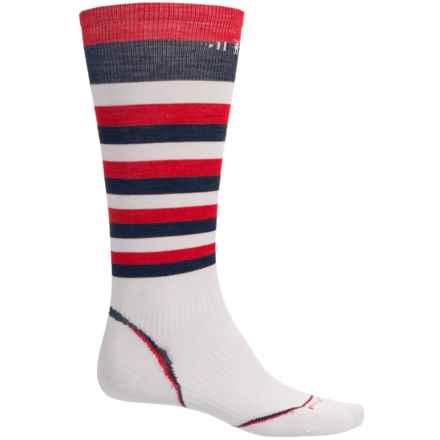 SmartWool PhD Ultralight Ski Socks - Merino Wool, Over the Calf (For Men and Women) in Multi - Closeouts