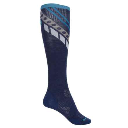 SmartWool PhD Ultralight Ski Socks - Merino Wool, Over the Calf (For Women) in Ink - Closeouts