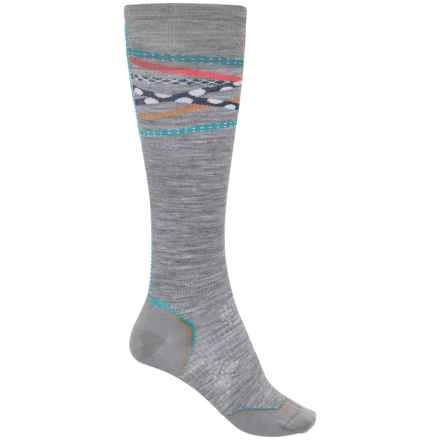 SmartWool PhD Ultralight Ski Socks - Merino Wool, Over the Calf (For Women) in Light Gray - Closeouts