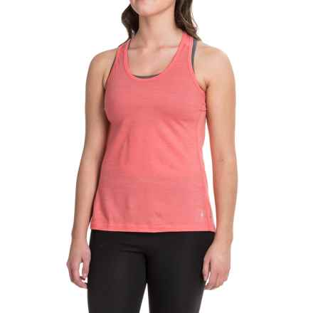 SmartWool PhD Ultralight Tank Top - Merino Wool, Racerback (For Women) in Bright Coral - Closeouts