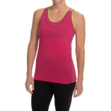 SmartWool PhD Ultralight Tank Top - UPF 20, Merino Wool, Keyhole Racerback (For Women) in Bright Pink - Closeouts
