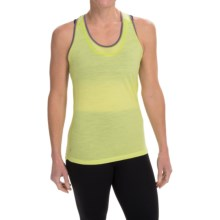 SmartWool PhD Ultralight Tank Top - UPF 20, Merino Wool, Keyhole Racerback (For Women) in Citron - Closeouts