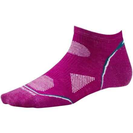 SmartWool PhD V2 Cycle Ultralight Micro Mini Socks - Merino Wool, Ankle (For Women) in Berry/Deep Sea - 2nds