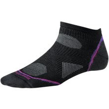 SmartWool PhD V2 Cycle Ultralight Micro Mini Socks - Merino Wool, Ankle (For Women) in Black - 2nds