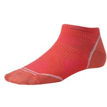 SmartWool PhD V2 Cycle Ultralight Micro Mini Socks - Merino Wool, Ankle (For Women) in Poppy - 2nds