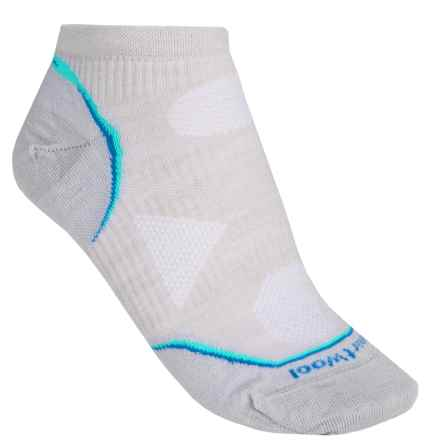 SmartWool PhD V2 Cycle Ultralight Micro Mini Socks - Merino Wool, Ankle (For Women) in Silver - 2nds