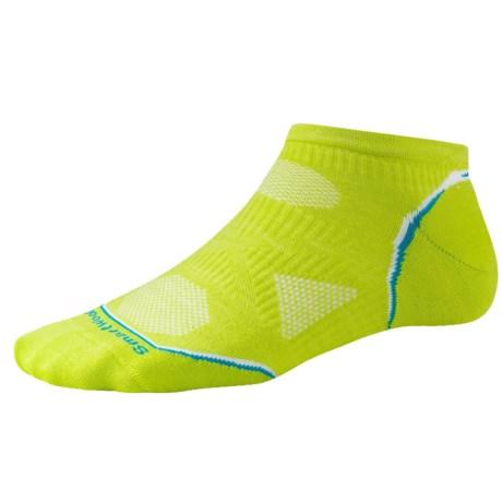 SmartWool PhD V2 Cycle Ultralight Micro Mini Socks - Merino Wool, Ankle (For Women) in Smartwool Green