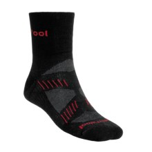 SmartWool PhD V2 Cycling Socks - Merino Wool, 3/4 Crew (For Men) in Black/Fire - 2nds
