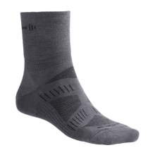 SmartWool PhD V2 Cycling Socks - Merino Wool, 3/4 Crew (For Men) in Graphite/Black - 2nds