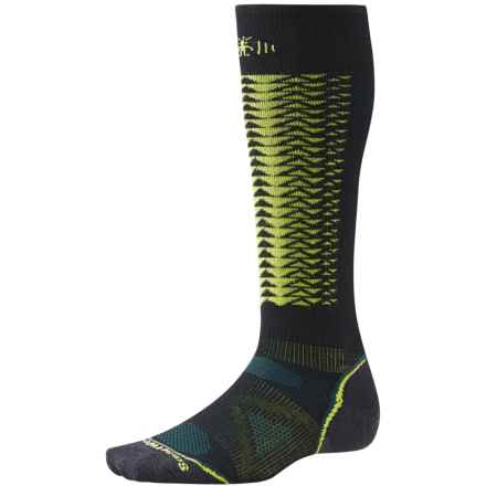 SmartWool PhD V2 Downhill Racer Socks - Merino Wool, Over the Calf (For Men and Women) in Black - 2nds
