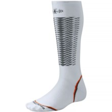 SmartWool PhD V2 Downhill Racer Socks - Merino Wool, Over the Calf (For Men and Women) in White - 2nds