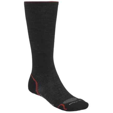 SmartWool PhD V2 Graduated Compression Socks - Merino Wool, Mid Calf (For Men and Women) in Black/Red - 2nds