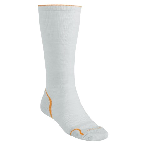SmartWool PhD V2 Graduated Compression Socks - Merino Wool, Mid-Calf (For Men and Women) in Silver