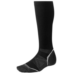 SmartWool PhD V2 Graduated Compression Socks - Merino Wool, Over the Calf (For Men and Women) in Silver