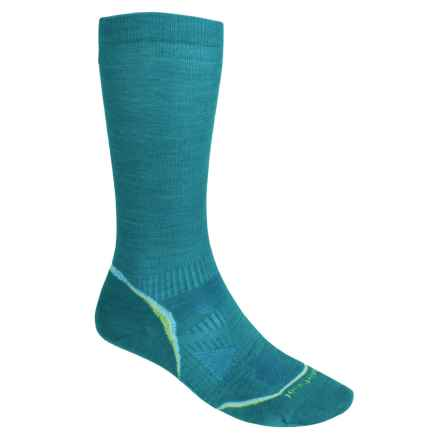 SmartWool PhD V2 Graduated Compression Socks - Merino Wool, Over the Calf (For Men and Women) in Capri - 2nds